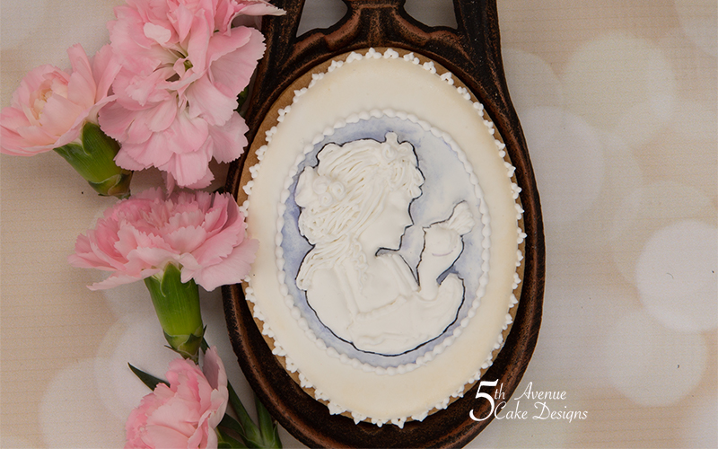 Cameo Pendant Cookie Art Lesson🌹💌🥰