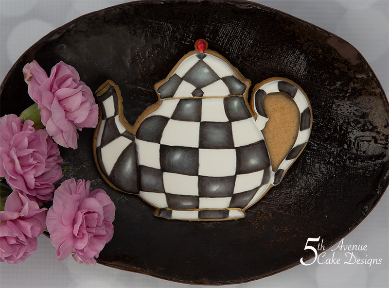 5ᵗʰ Avenue's MacKenzie-Childs Inspired Teapot Cookie Art Lesson  🍵💐