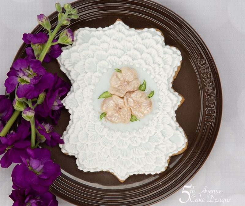 Shabby Chic Brush Embroidery Cookie Art Lesson 🌷🌺💕