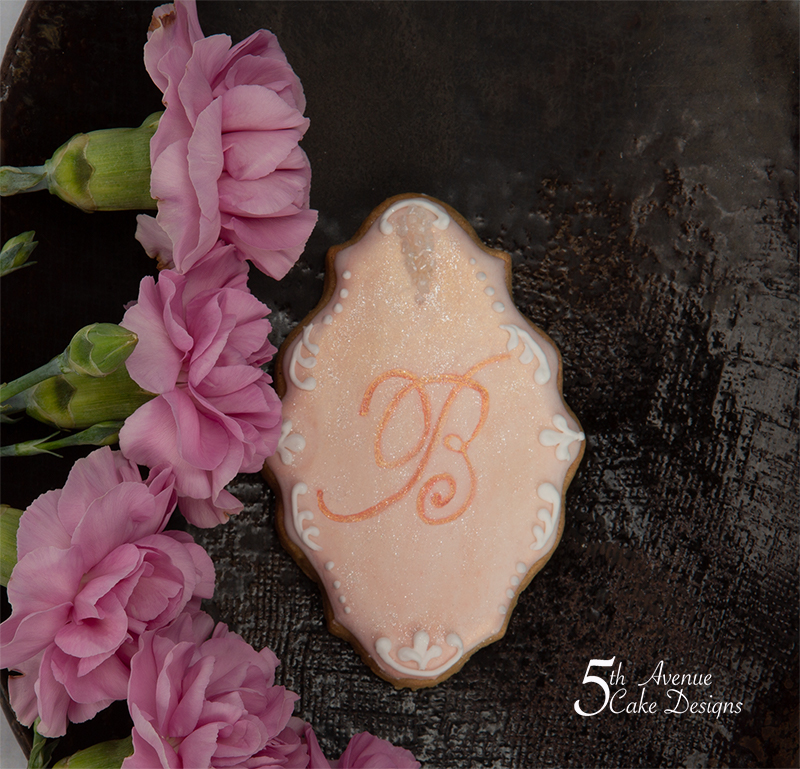 Elegant Sparkling Monogram Cookies