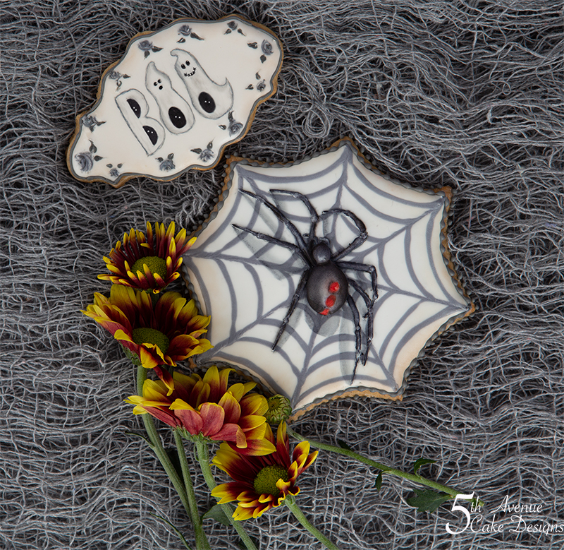 Halloween Creepy Spider and Ghostly Boo Cookies