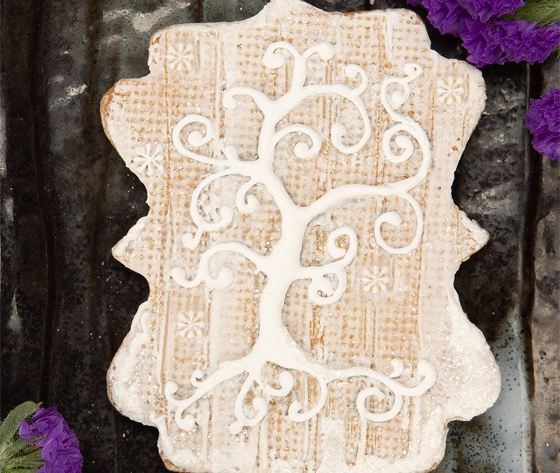 Peaceful Winter Cookie Card