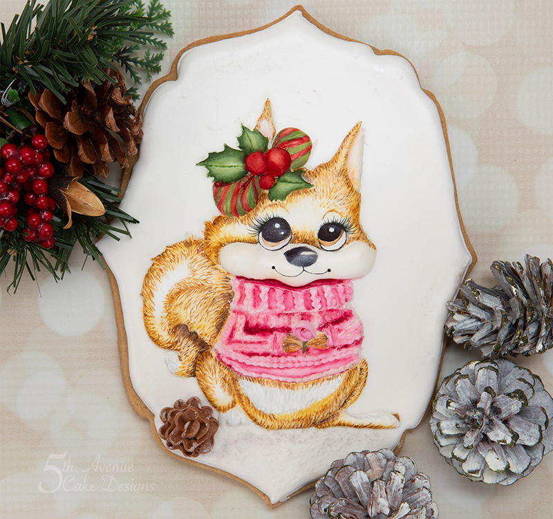 Holly the Holiday Squirrel Cookie