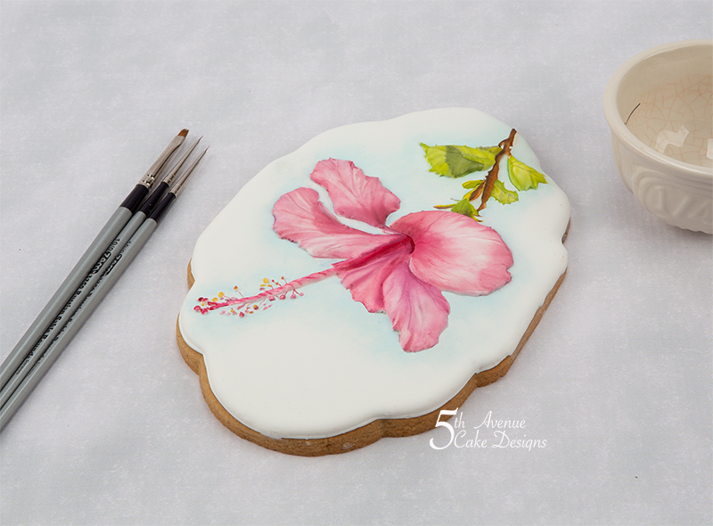 5ᵗʰ Avenue's Majestic Hibiscus Flower Cookie Art  Lesson 🌺🍃🎥