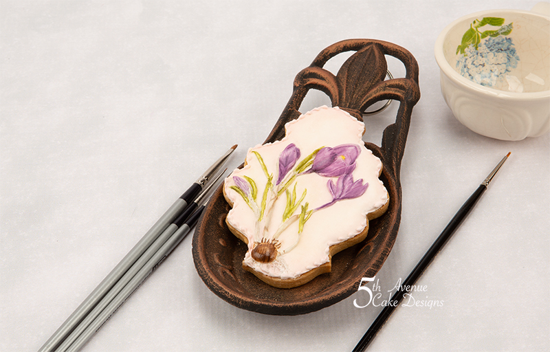 Crocus Flower Cookie Art Lesson for Mom 💐🌱👒