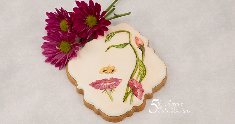 Surreal Floral Face Cookie