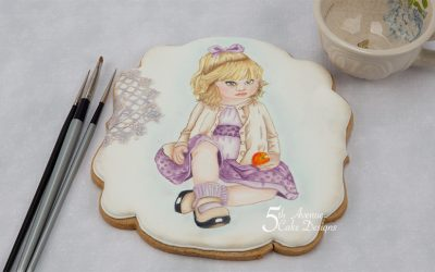 An Age of Innocence Hand Painted Cookie 💕 😇💕