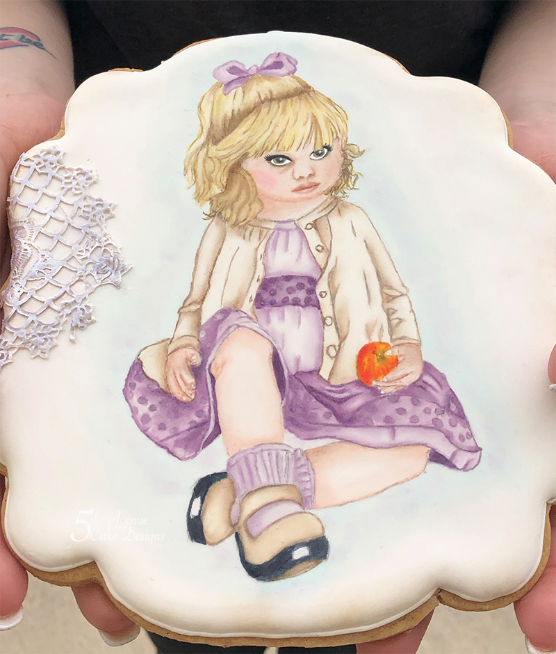An Age of Innocence Hand Painted Cookie