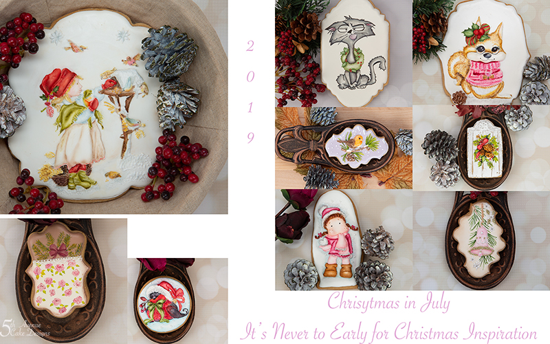 Christmas in July Cookie Art Inspiration