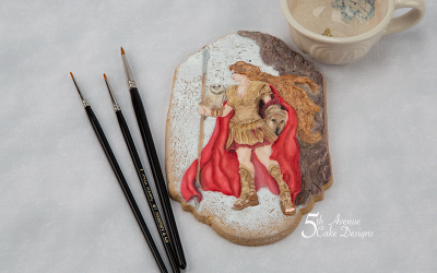 Athena the Goddess of War Cookie Art Course ⚔️🦉