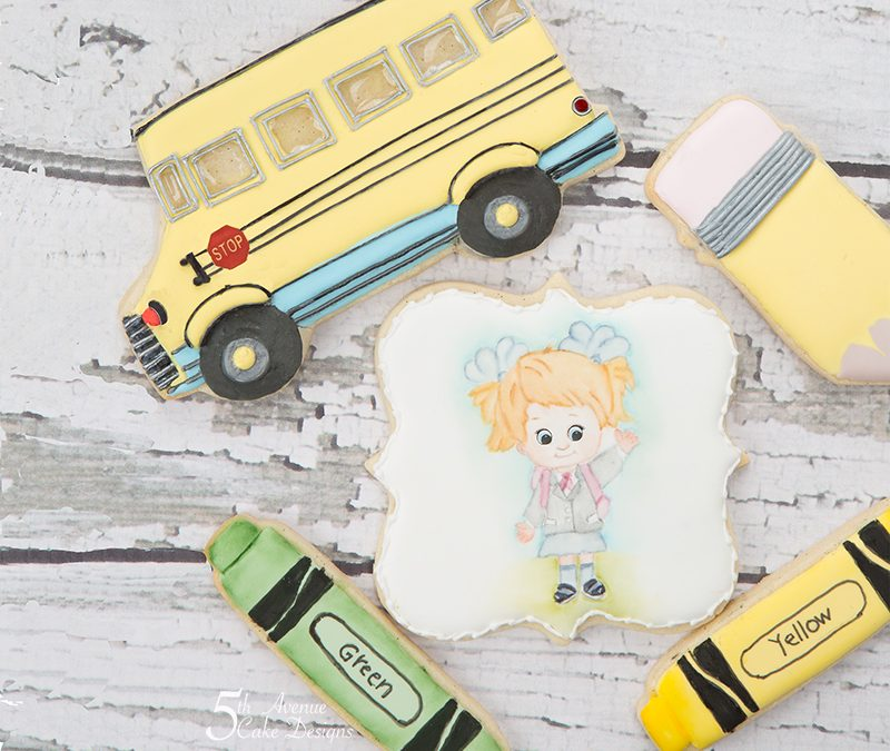 Hey Pre-K, Here I Come Cookie Art  🚌✏️🖍️