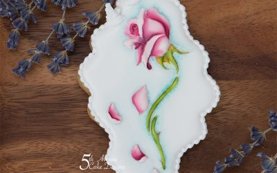 Enchanted Beauty and Beast Rose Cookie Art Lesson 🥀🥰🏰