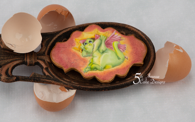 The Reluctant Dragon Cookie Art Lesson 🐉🥚🗡️