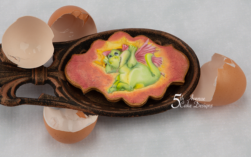 5ᵗʰ Avenue's The Reluctant Dragon Cookie Art Lesson 🐉🥚🗡️