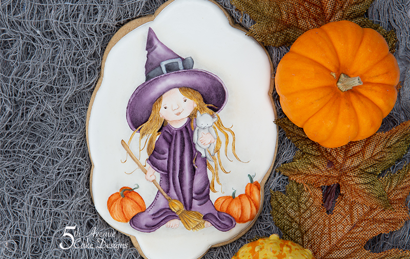 Dimensional Watercolor Witchy Fun Cookie Art Lesson 🎃🧙♀️🧹
