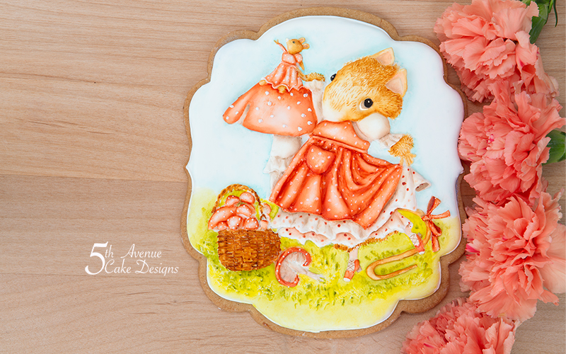 Let's Forage for Mushrooms Cookie Art Lesson 🍄🧺🐭