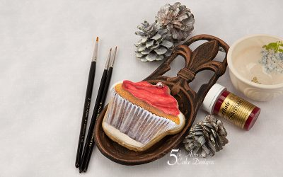 Scrumptious Christmas Cupcake Cookie Art Lesson ❄️🧁🔔