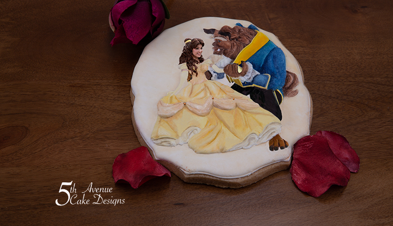 Beauty and the Beast Cookie Art Lesson 🌹🖌️🎨