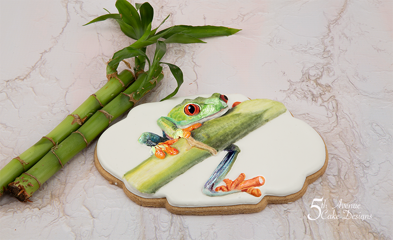 Travis the Tree Frog Cookie Art Lesson 🐸🎋