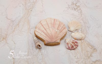 Scallop Sea Shell Cookie Art Lesson 🐚🌊🌤️