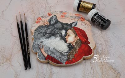 Little Red Riding Hood and Wolf Cookie Art Lesson 🐺☃️🎄