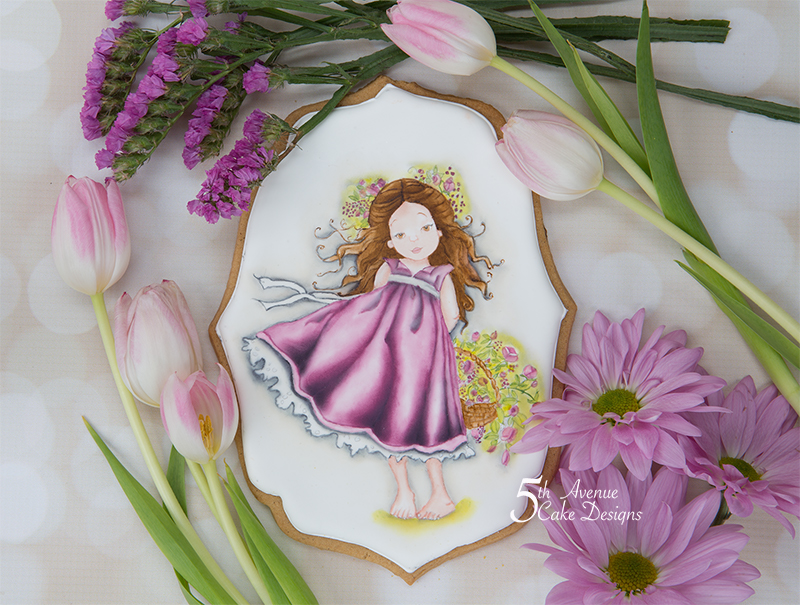 5ᵗʰ Avenue's Fiona the Flower Girl Cookie Art Cookie Lesson 💐🌹🌺