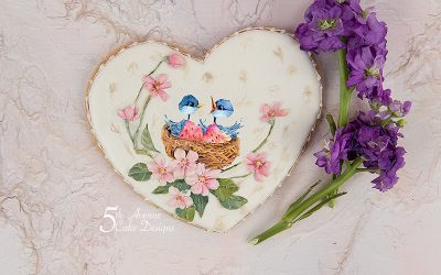 5ᵗʰ Avenue's Two of a Kind Cookie Art Lesson 🌸🐦💐