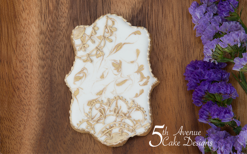 5ᵗʰ Avenue's Openwork Lace Cookie Art Lesson 🌸