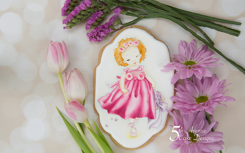 5ᵗʰ Avenue's Flower Girl Cookie Art Lesson 💐🌹🌺