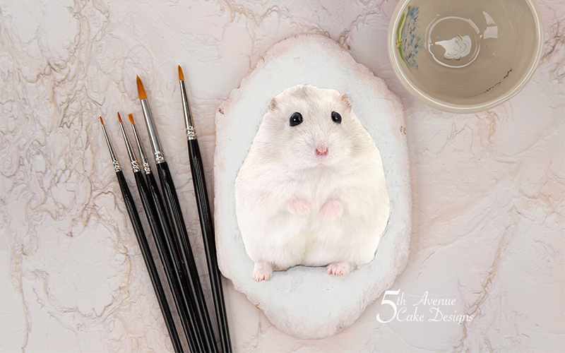 How to Dimensional Pipe and Paint a Pet Hamster Cookie Art Lesson 🐹🖌️😋