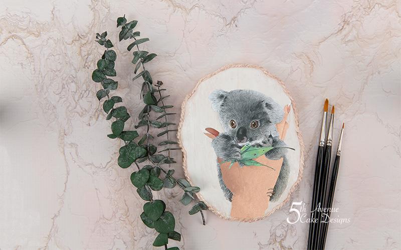 Dimensional Watercolor Baby Koala Cookie Art Lesson 🐨🍃🎨