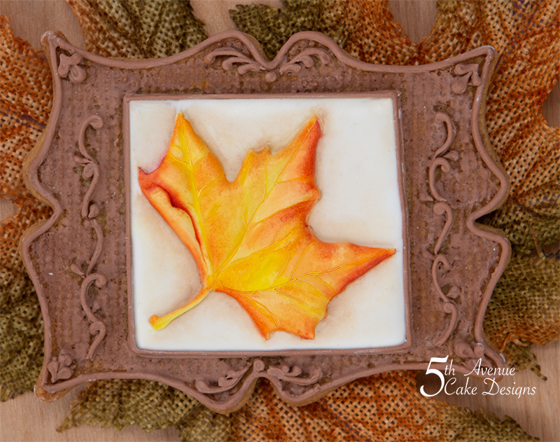 Dimensional Watercolor Maple Leaf Cookie Art Frame Class 🍁🍂🌰