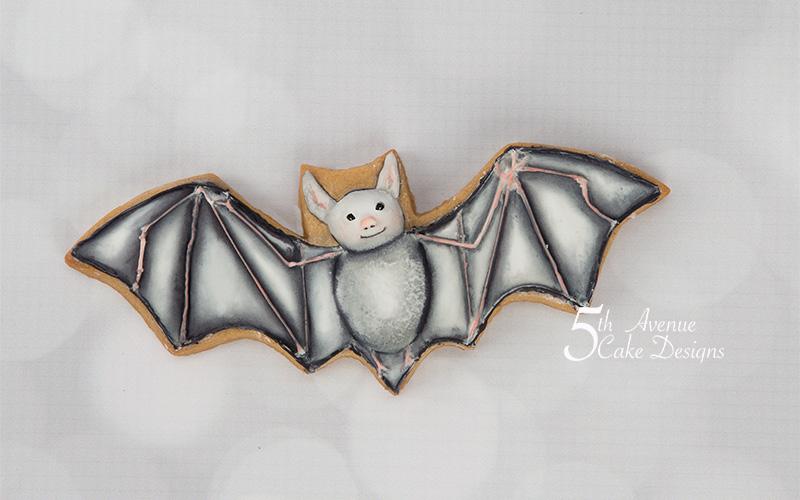 Dimensional Watercolor Bat Cookie Art Class 🦇💀🧹