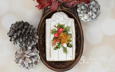 Dimensional Watercolor Wood Grain Cookie Art Class 🎀🚪🍂