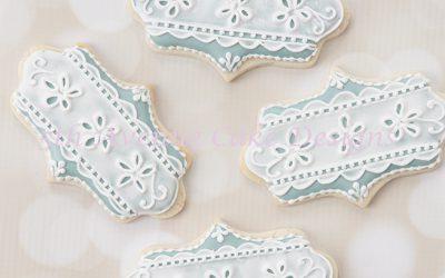 Royal Icing Eyelet Lace Cookies