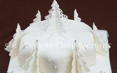 Filigree Inspired Colorado Christmas Cake